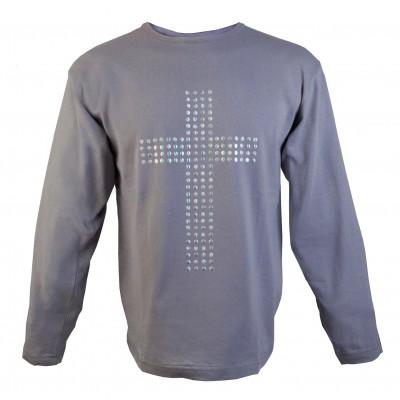 Толстовка с заклепками Крест
