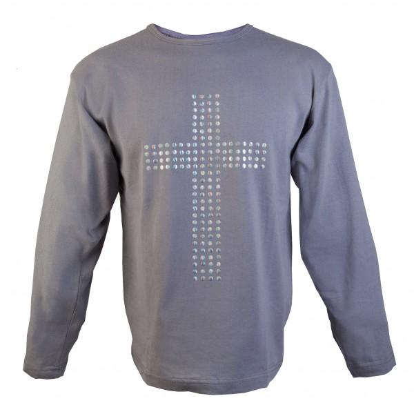 Толстовка (футболка) с заклепками Крест