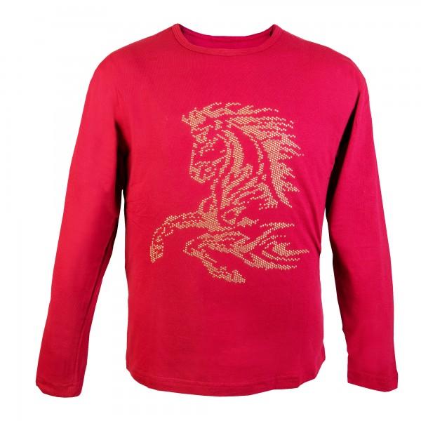 Толстовка ( футболка) с заклепками -Конь