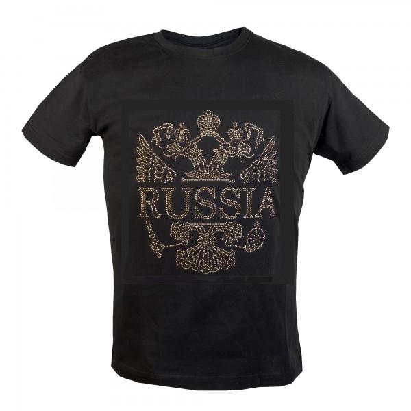 Футболка  с заклепками Герб России Большой