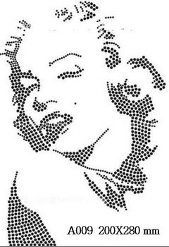 футболка с изображением Голова Мерилин Монро