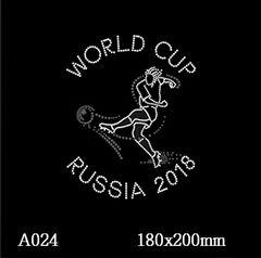 футболка с рисунком Футболист Russia 2018 — чемпионат мира
