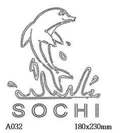 футболка с рисунком Дельфин Сочи