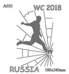 футболка с изображением Футбол Russia WC 2018
