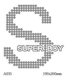 футболка с изображением Super Boy