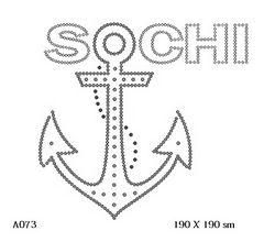 футболка с изображением Сочи якорь с цепью