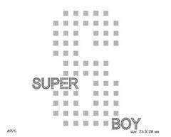 футболка с изображением Super boy с буквой S