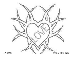 футболка с рисунком Сердце Love с листьями