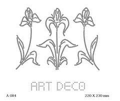 футболка с изображением Три цветка Art Deco