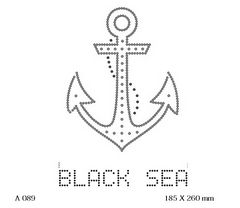 футболка с изображением Чёрное море якорь