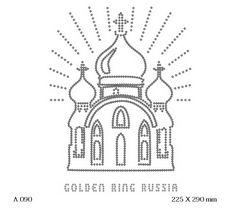 футболка с изображением Золотое кольцо России