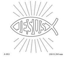футболка с рисунком Рыбка Jesus
