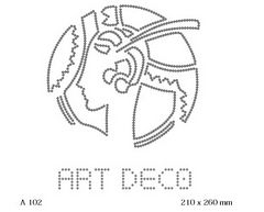футболка с рисунком Контурная девушка Art Deco