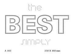 футболка с рисунком The Best simply