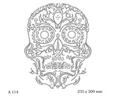 футболка с изображением Латиноамериканский череп детализированный