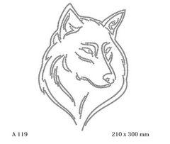 футболка с рисунком Голова волка