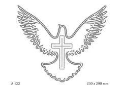 футболка с изображением Голубь с крестом