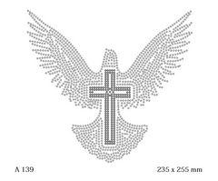 футболка с изображением Голубь с крестом заполненный