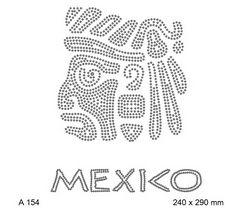 футболка с изображением Mexico и божество майя