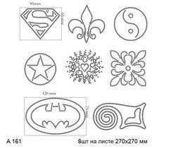 футболка с изображением 8 символов (супермен трилистник звезда бэтмен и др.)