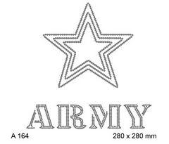 футболка с изображением Army и армейская звезда
